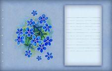 Vintage Blue Background Stock Image