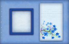 Free Vintage Blue Photo Frame Stock Image - 18746681