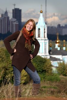 Free People: Russian Woman In Moscow Stock Photo - 18746860