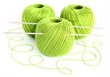 Free Set For Knitting. Royalty Free Stock Image - 18747056