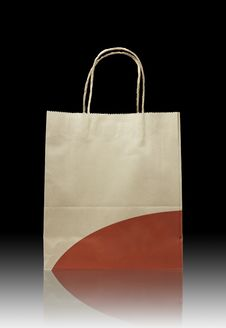 Free Brown Paper Bag On Reflect Floor Royalty Free Stock Photos - 18747118