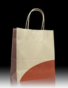 Free Brown Paper Bag On Reflect Floor Stock Photo - 18747120