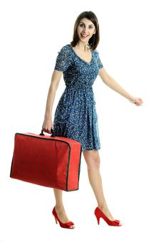 Free Nice Woman With  Bag Royalty Free Stock Photography - 18747627