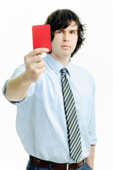 Free Red Card Stock Photo - 18747830