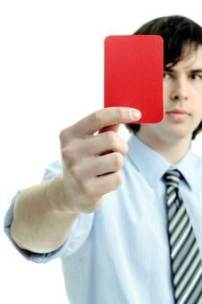 Free Red Card Royalty Free Stock Photos - 18747838