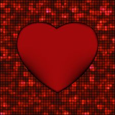 Free Abstract Mosaic Glowing Heart Background. EPS 8 Stock Image - 18747881