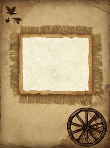 Background With Pencil Drawing Stock Photos
