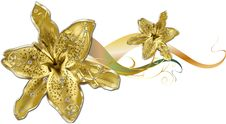 Free Gold Lily Royalty Free Stock Photos - 18748088