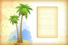 Free Vacation Background With Palm Stock Photography - 18748352