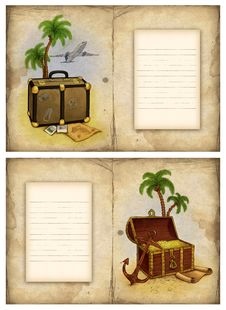Free Background With Travel Illustration Royalty Free Stock Photo - 18748405