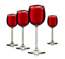 Free Wine Glasses With Red Fruit Juice And Ice Stock Photos - 18748853