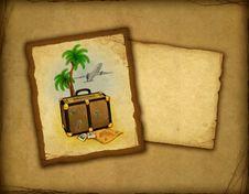 Travel Illustration Stock Photo