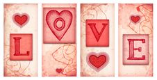 Drawing Of Heart Royalty Free Stock Images