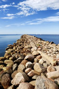 Free Baltic Sea Shore Near The Port Of Riga Stock Photos - 18749583