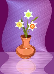 Free Ceramic Vase With Narcissuses Royalty Free Stock Photo - 18749625
