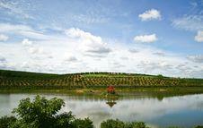 Free Reservoir In Orange Farm Stock Photo - 18749650