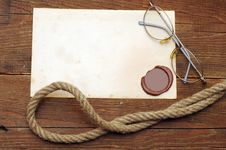 Free Old Paper With A Wax Seal Royalty Free Stock Image - 18749836