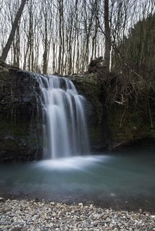 Free Waterfall In Winter Royalty Free Stock Photos - 18749848