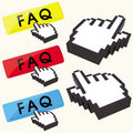 Free Set Of FAQ Buttons Royalty Free Stock Images - 18755819