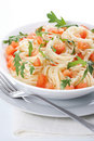 Free Pasta With Tomato And Rucola Stock Photos - 18756823
