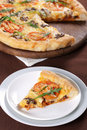 Free Pizza With Mushroom And Tomatoes Stock Photos - 18757033