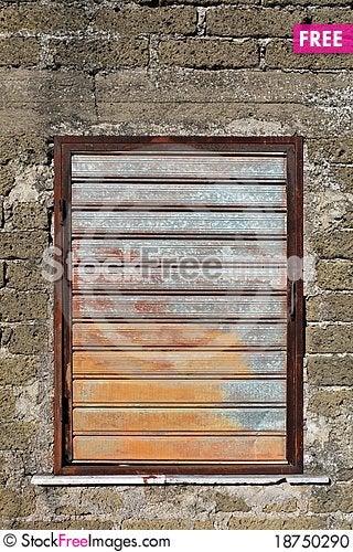 Free Wall And Metallic Window Stock Photo - 18750290
