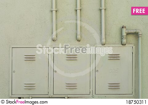 Free Gas Distribution Pipes Stock Image - 18750311