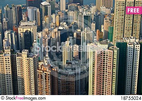 Free Building Hong Kong Stock Images - 18755024