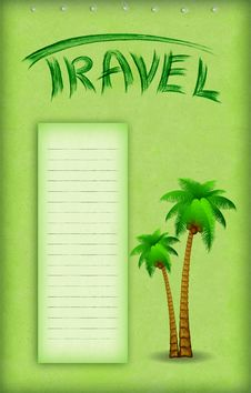 Free Vacation Background With Palm Royalty Free Stock Images - 18750019