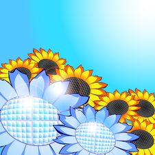 Free Sunflowers – Solar Panels, Eco Energy Concept Stock Image - 18750201