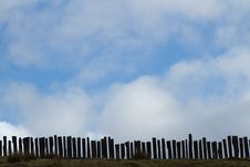 Free Fence And Sky. Royalty Free Stock Photos - 18750478