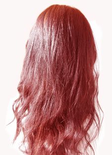 Free Red Long Hair Curles Stock Images - 18750514