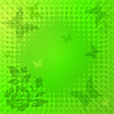 Free Decorative Vivid Green Frame Royalty Free Stock Photo - 18751155