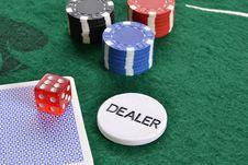 Free Poker Dealer Stock Image - 18751411
