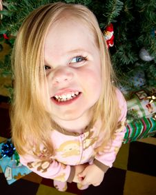 Happy Child During Christmas Royalty Free Stock Photos