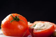 Free Stuffed Tomatoes Royalty Free Stock Photos - 18752598