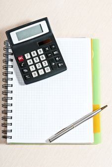Free Notebook On Desk Stock Photography - 18752962