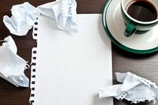 Free Pencil, Coffee, Paper Stock Photography - 18752982