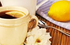 Free Cup Of Tea With Lemon Royalty Free Stock Images - 18753129