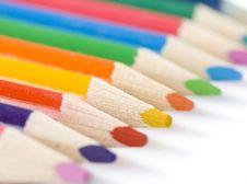 Free Crayons On Diagonal Line Stock Photos - 18753443