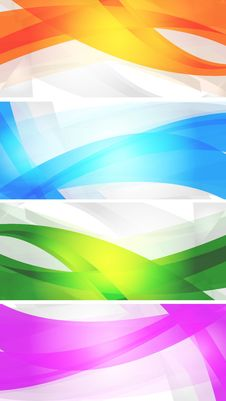 Free Set Of Vibrant Banners Royalty Free Stock Photos - 18753688