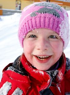 Free Happy  Little Girl In The Snow Royalty Free Stock Photos - 18753968