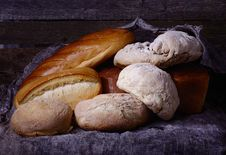 Bread On The Table Royalty Free Stock Images