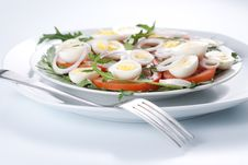 Free Healthy Salad With Eggs Royalty Free Stock Photos - 18754828