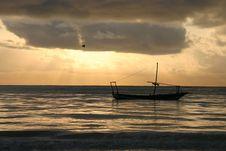 Free Boat Under Sunset Zanzibar Royalty Free Stock Photos - 18754898