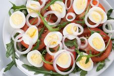 Free Healthy Salad With Eggs Stock Photos - 18755443