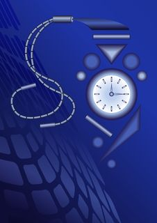 Free Abstract Background With Stylized Watch Stock Photography - 18755562