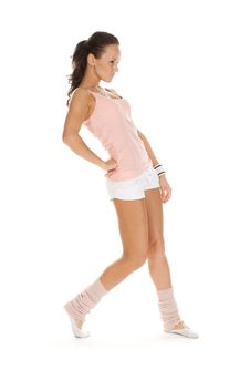 Free Cute Brunette Performs Athletic Exercise Stock Photos - 18755923