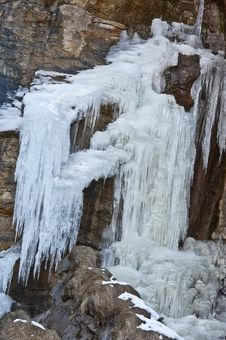 Free Frost Waterfall On Rock Stock Photography - 18756132