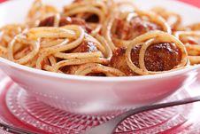Free Pasta With Meatballs Stock Photos - 18756603